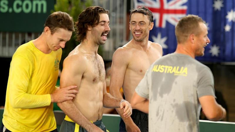 Australia have beaten Brazil 3-1 in Adelaide to advance to November's Davis Cup finals in Spain