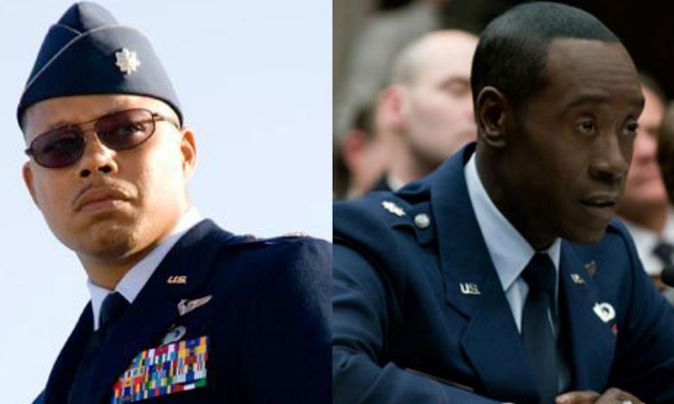 Terrence Howard played Rhodey in the first Iron Man movie but claimed he was offered less money than was agreed for the second one, blaming Robert Downey Jr. for squaring away the money meant for him. Howard was the one who helped Downey Jr. get cast as Tony Stark. Don Cheadle has played the character from Iron Man 2 to present.