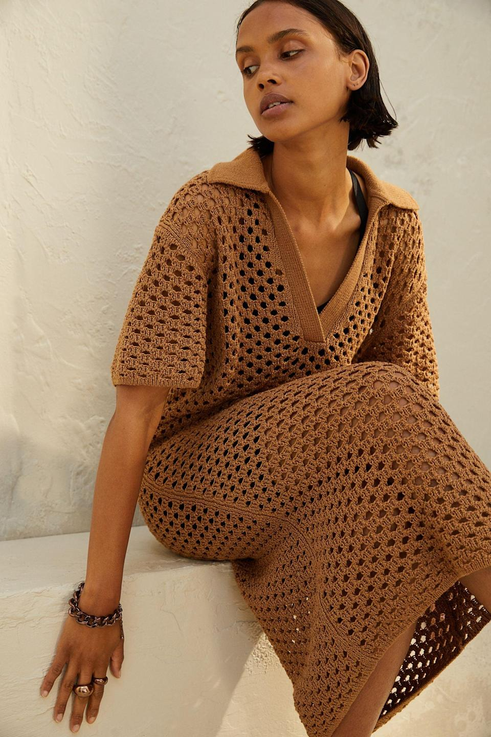 <p>Have you ever seen a <span>Crocheted Dress</span> ($54, originally $60) this chic? We're obsessed with the details, and we're planning to wear it over a slip dress to add more glam.</p>