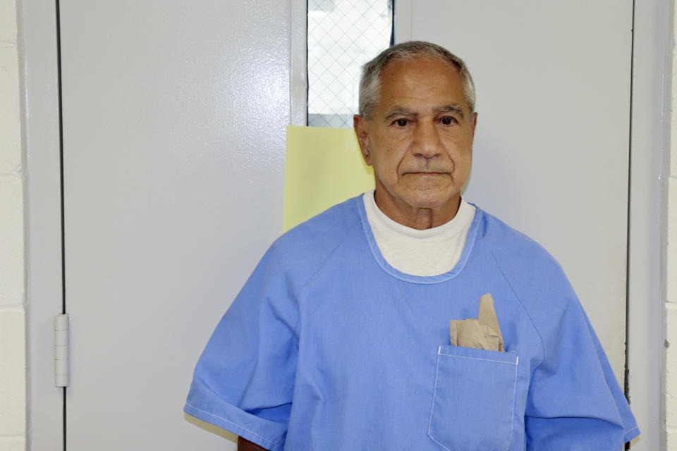 Sirhan Sirhan arrives for a parole hearing on Friday. Source: California Department of Corrections and Rehabilitation via AP
