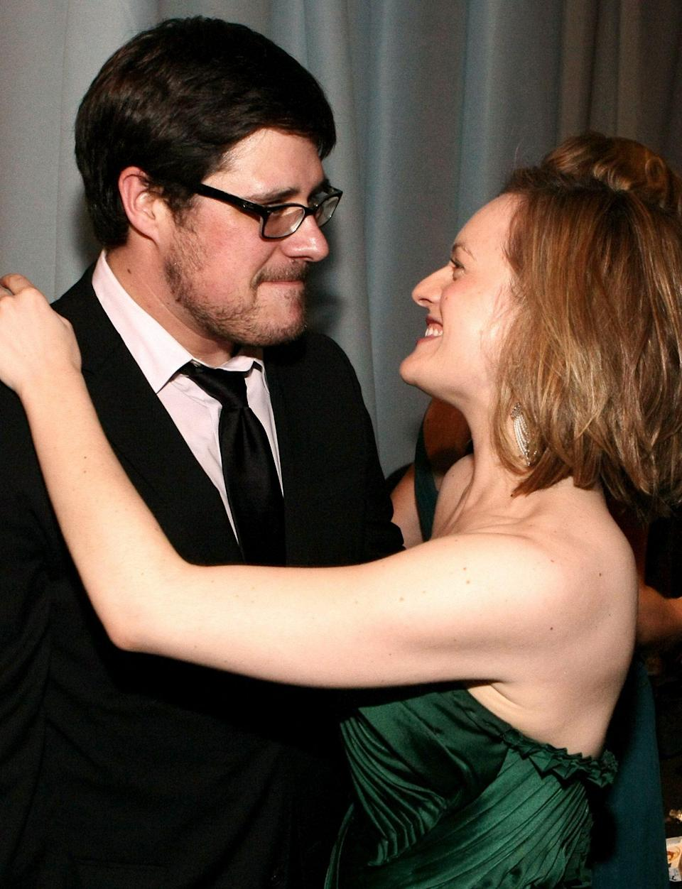 <p><em>Mad</em> about you! <em>Mad Men </em>costars Rich Sommer and Elisabeth Moss caught up at the AMC afterparty.</p>