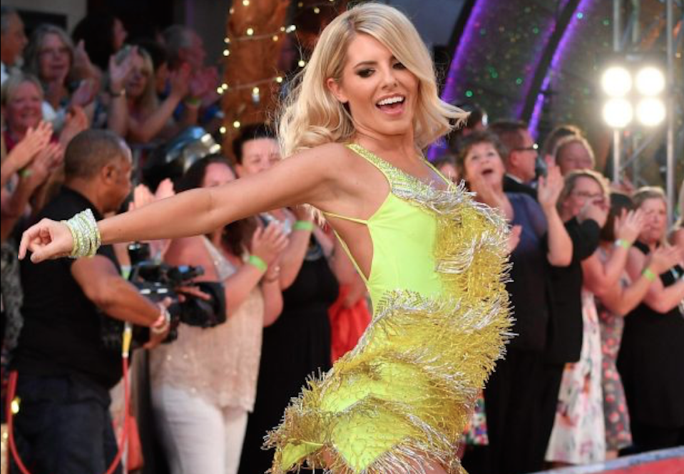 Mollie King struts her stuff at the Strictly launch (GETTY)