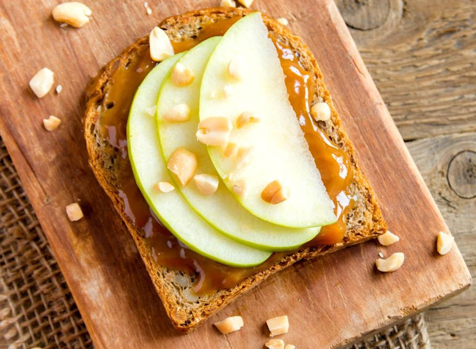 peanut butter toast apple