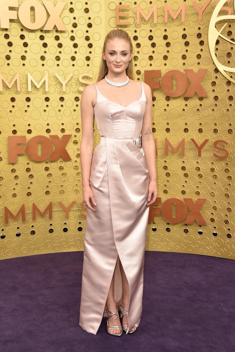 """<h2>Sophie Turner in Louis Vuitton, 2019</h2><span class=""""copyright"""">Photo: John Shearer/Getty Images.</span>"""