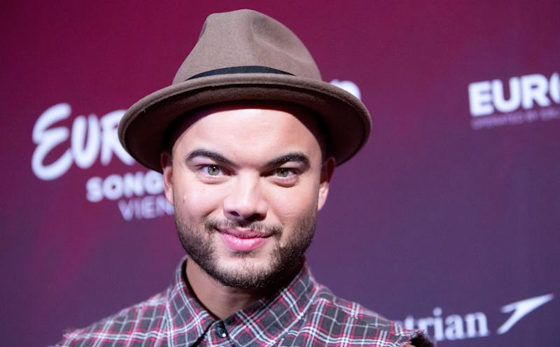 Singer Guy Sebastian representing Australia poses at a photocall of the 60th annual Eurovision Song Contest (ESC) in Vienna, Austria, 17 May 2015. The ESC 2015 consists of two semi-finals, which will take place on 19 and 21 May, and a grand final held on 23 May. EPA/GEORG HOCHMUTH