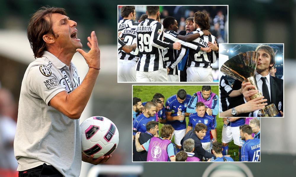 Antonio Conte's CV includes stints with Siena, Juventus and the Italy national team