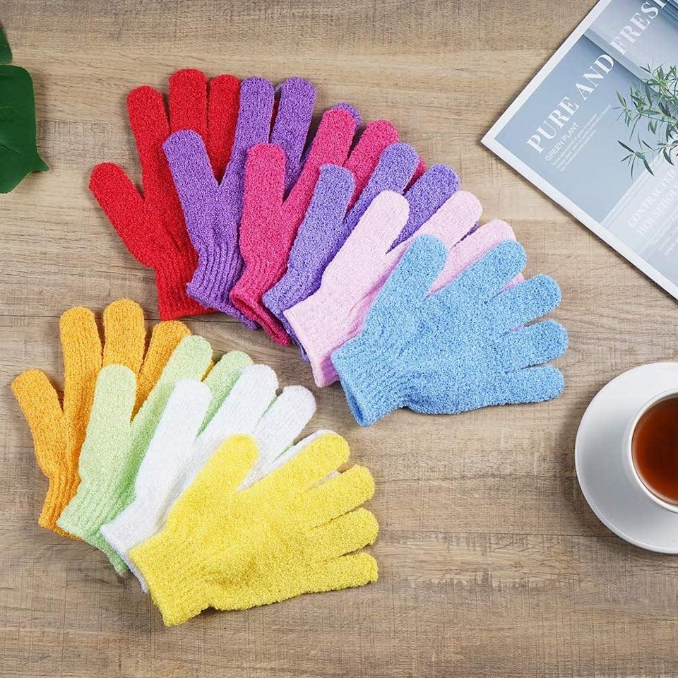 <p>You can never have enough exfoliation gloves so stock up with <span>10 Pairs Exfoliating Bath Gloves</span> ($9).</p>