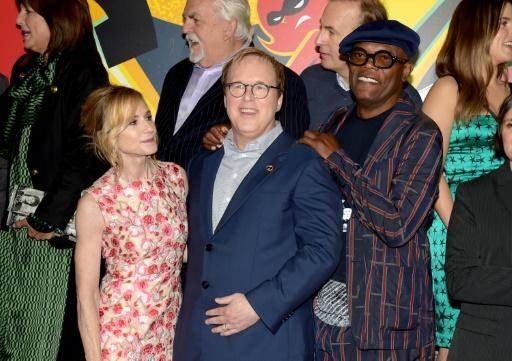"""Director Brad Bird (C) -- shown with Holly Hunter and Samuel L. Jackson -- waited a full 14 years to release the sequel to the wildly popular first """"Incredibles"""" film"""