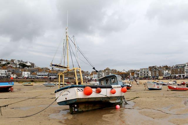 General View of the Harbour at St Ives, Cornwall (David Davies/PA)