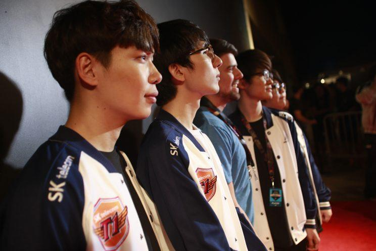 SK Telecom T1 at the 2015 Mid-Season Invitational (Riot Games/lolesports)