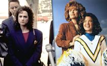 <p><b>Aired:</b> April 10, 1993 on HBO<br><b>Stars:</b> Holly Hunter, Beau Bridges, Swoosie Kurtz, Gregg Henry (and, in his first-ever TV role, Andy Richter as a cop)<br><br><b>'Willing to Kill: The Texas Cheerleader Story'</b><br><b>Aired:</b> November 8, 1992 on ABC<br><b>Stars:</b> Lesley Ann Warren, Tess Harper, and William Forsythe<br><br><b>Ripped from the headlines about:</b> Texas mom Wanda Holloway, who, in 1991, hired her ex-brother-in-law, Terry Harper, to kill the mother of her daughter's cheerleading squad rival. Holloway was busted when Harper informed police about her plot. The ABC movie is a straightforward re-telling of the story, while the HBO version — which earned an Emmy win for Hunter and Emmy and Golden Globe wins for Bridges — is a deliciously over-the-top, humor-tinged version that really portrays the situation for just how ridiculous it was. A highlight: Hunter's Wanda freaking out about her daughter's cheerleading disqualification because of the rule-breaking use of rulers as campaign sign handles. <br><br><i>(Credit: Everett Collection)</i> </p>