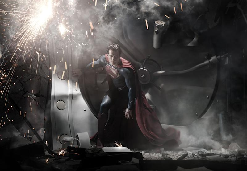 """FILE - In this image released by Warner Bros. Pictures, Henry Cavill is shown as Superman in a scene from the film, """"Man of Steel."""" The film also stars Amy Adams, Russell Crowe, Diane Lane, Kevin Costner, Michael Shannon, Laurence Fishburne, Julia Ormond, Christopher Meloni and Antje Traue. (AP Photo/Warner Bros. Pictures/Legendary Pictures, Clay Enos, File)"""