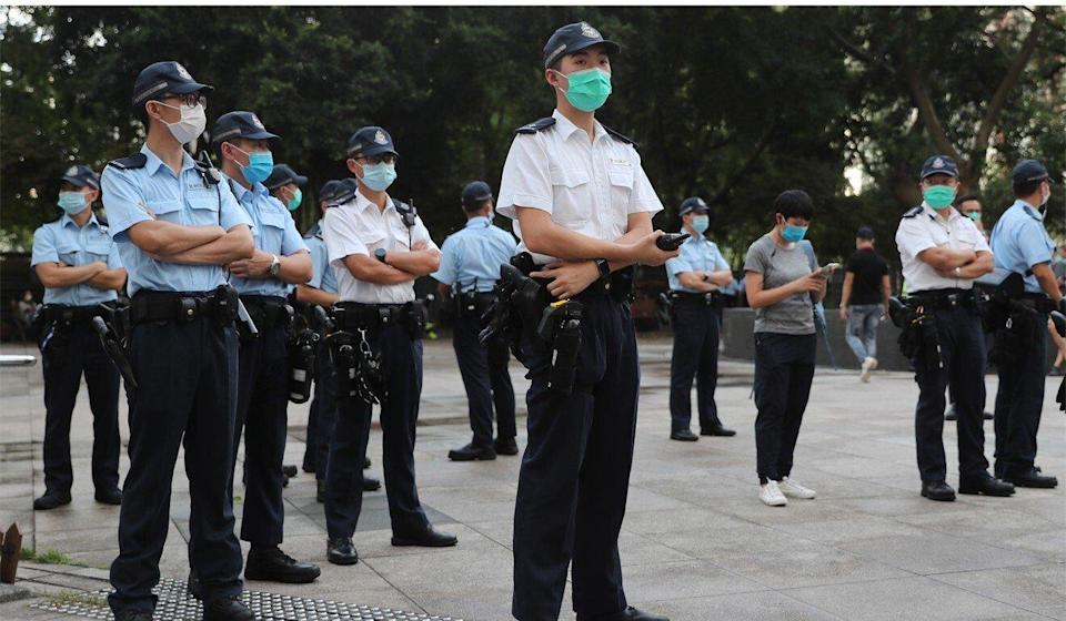 Police officers took a hands-off approach last year although a number of activists were later arrested. Photo: Sam Tsang