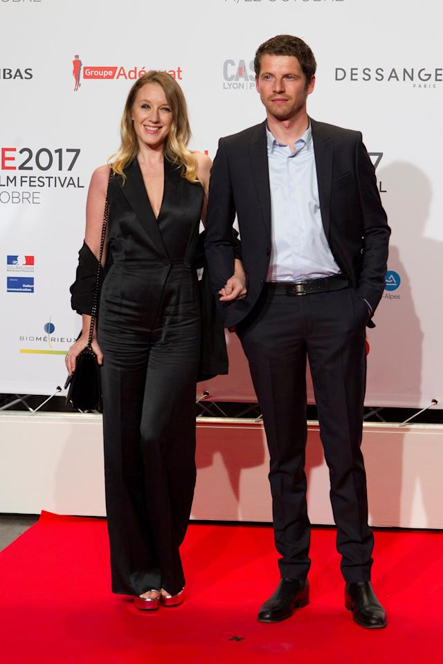 Actors Ludivine Sagnier and Pierre Deladonchamps attend the opening of the Lumiere 2017 Grand Lyon Film Festival in Lyon, France, October 14, 2017.  REUTERS/Emmanuel Foudrot
