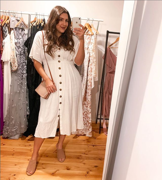 Alexia Frangos started 808 Threads after being frustrated by a lack of clothing hire options for curvier women. Source: Supplied