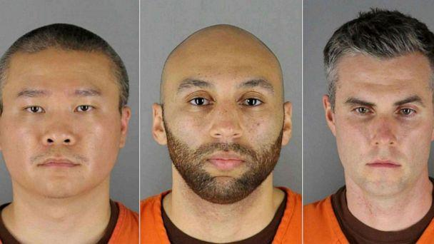 PHOTO: Ex-Minneapolis Police Officers from left, Derek Chauvin, Tou Thao, J. Alexander Kueng and Thomas Kiernan Lane. (Handout/Hennepin County Jail/AFP via Getty Images)