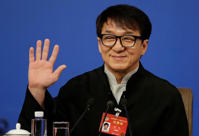 <p>No. 5: Jackie Chan<br>Past year's earnings: $49 million<br>Chan continues to be one of the hottest stars in China's film scene, and is no slouch in the rest of the world, either. Most of this year's income came from movies in Mainland China, like <em><span>Railroad Tigers</span></em> and <em><span>Kung Fu Yoga</span></em>.<br>(Reuters) </p>