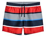 """<p>Knee-length swim shorts from H&M, $18. Available on <a rel=""""nofollow noopener"""" href=""""http://www.hm.com/us/product/68062?article=68062-B"""" target=""""_blank"""" data-ylk=""""slk:hm.com"""" class=""""link rapid-noclick-resp"""">hm.com</a> </p>"""