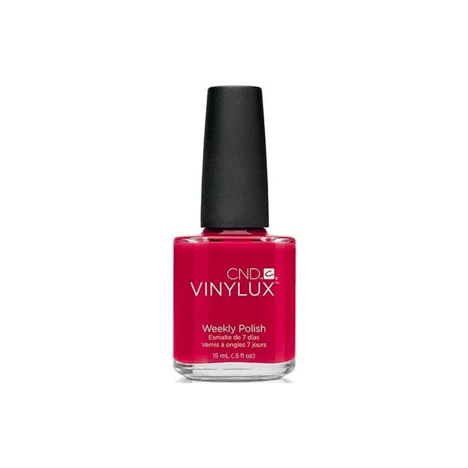 "My nail polish collection consists of many, many shades of red, and the ones from CND always impress me. The brush covers your nail with two strokes, and the polish goes on thick and smooth. I like to use it with the brand's <a href=""https://shop-links.co/1706755405261926089"" rel=""nofollow noopener"" target=""_blank"" data-ylk=""slk:top coat"" class=""link rapid-noclick-resp"">top coat</a> for a long-lasting, glossy finish—and despite the fact that I'm washing my hands non-stop, the polish doesn't chip until the third or fourth day. —<em>Talia Abbas, commerce writer</em> $11, CND. <a href=""https://shop-links.co/1706753287880301289"" rel=""nofollow noopener"" target=""_blank"" data-ylk=""slk:Get it now!"" class=""link rapid-noclick-resp"">Get it now!</a>"