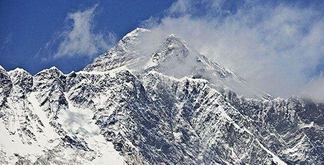 Top of the world: Mount Everest. Source: AFP