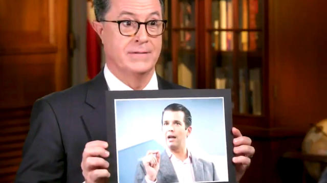 Stephen Colbert Hilariously Grills Congressmen On The Trump-Russia Probe