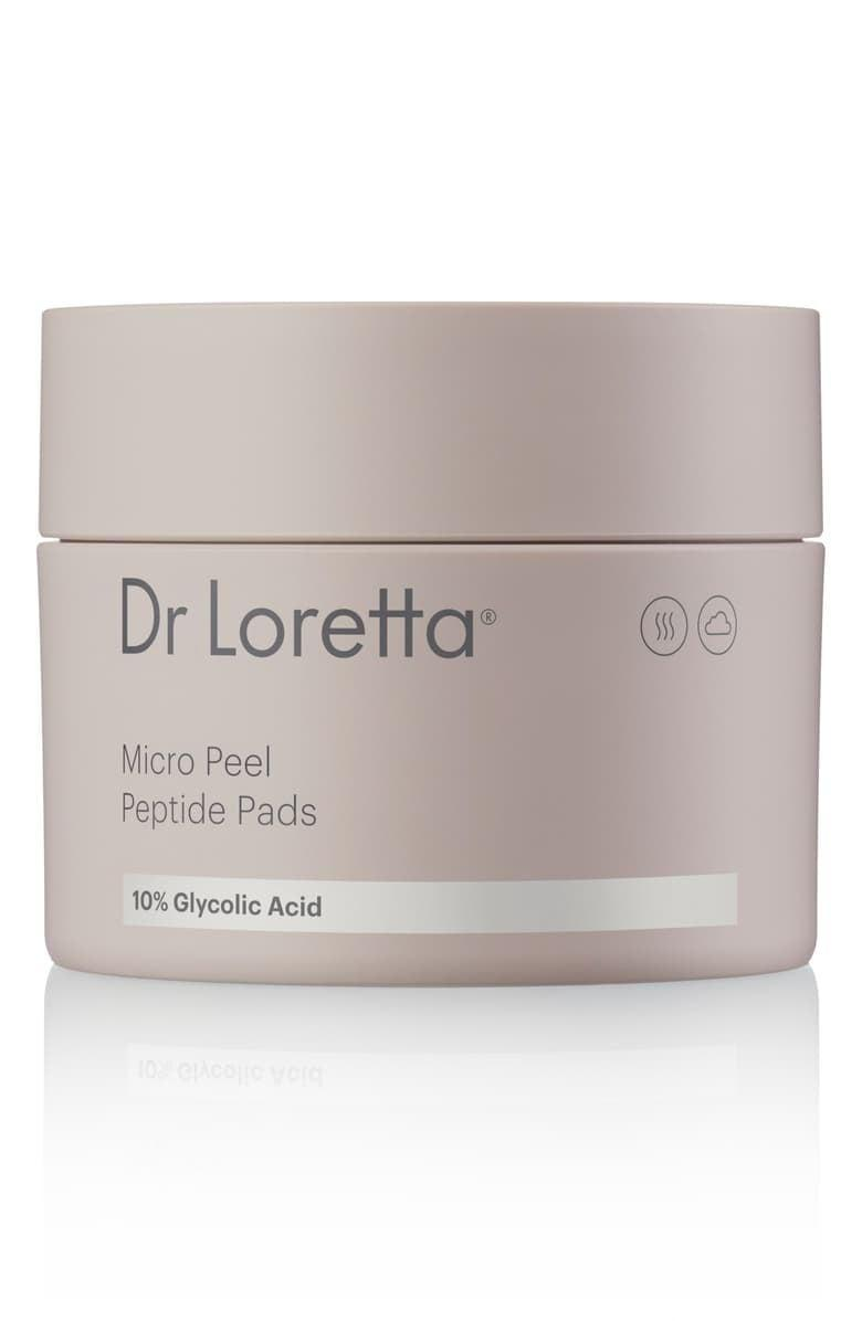 <p>Tackle breakouts and dark spots with the <span>Dr. Loretta Micro Peel Peptide Pads</span> ($60).</p>