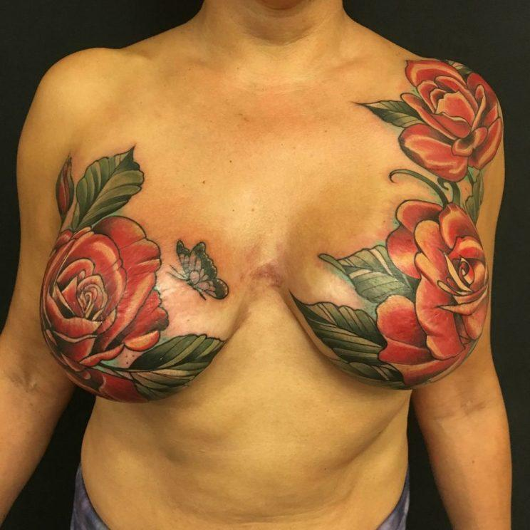 53c507f534ae3 Some of the Most Amazing and Inspiring Mastectomy Tattoos Ever