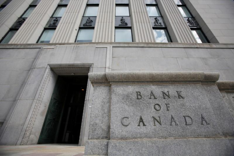 A sign is pictured outside the Bank of Canada building in Ottawa