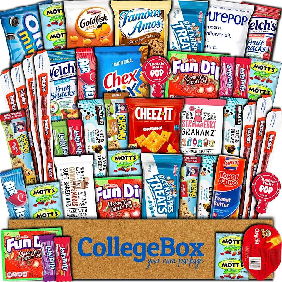 <p>The <span>CollegeBox Care Package</span> ($24) is not just for college kids, but for any one who just needs a pick me up!</p>
