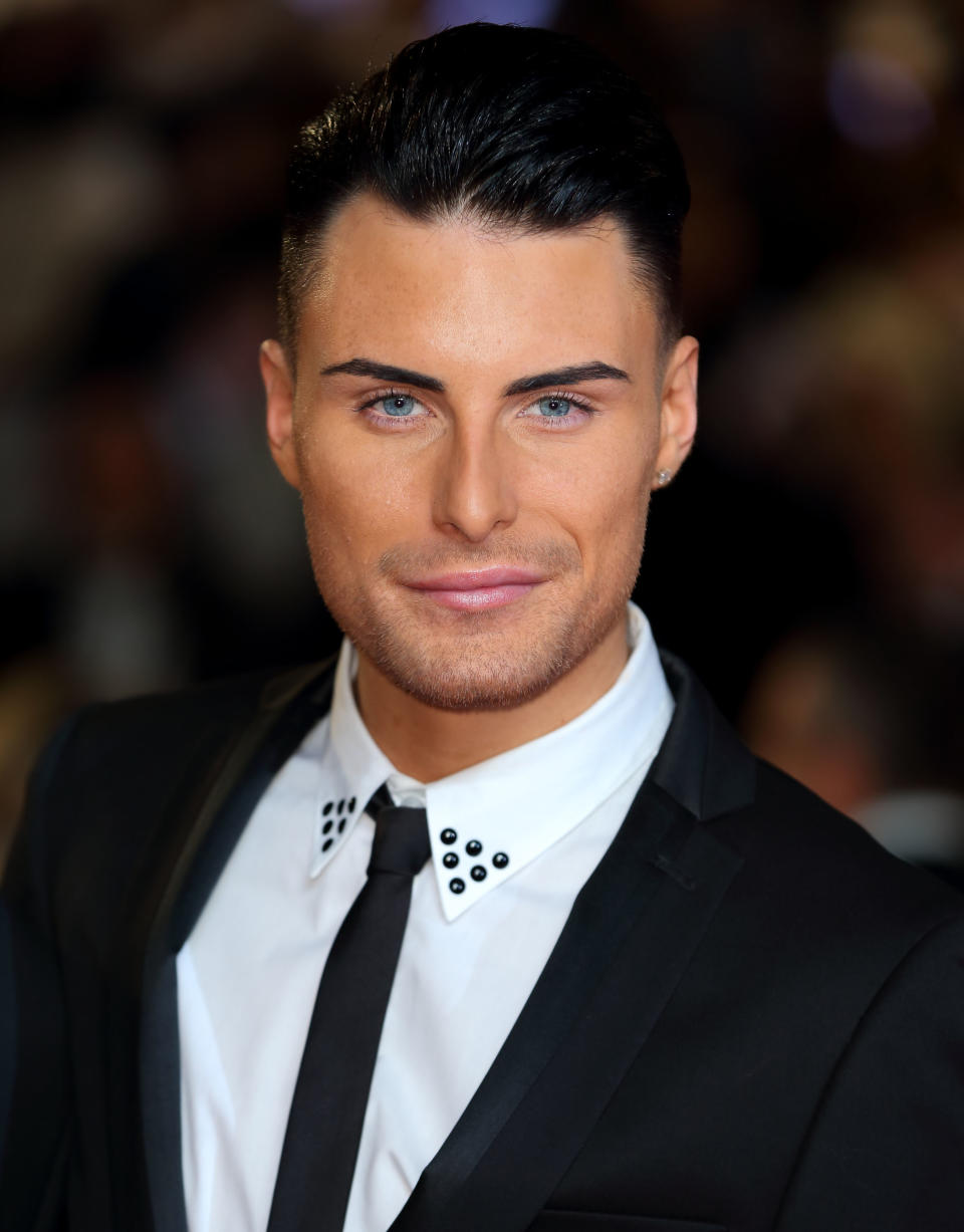 Rylan Clark attends the Royal World Premiere of 'Skyfall' at Royal Albert Hall on October 23, 2012 in London, England.  (Photo by Mike Marsland/WireImage)