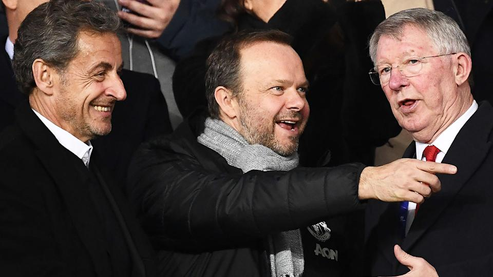 Pictured here, Ed Woodward chats with legendary manager Sir Alex Ferguson.