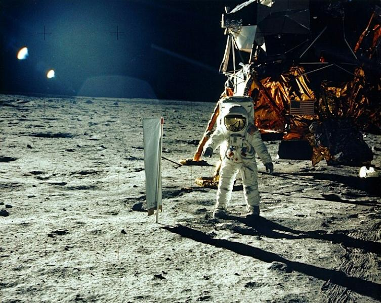 Astronaut Buzz Aldrin on the Moon's Sea of Tranquility