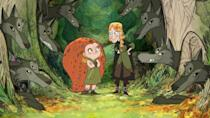 """<p>Made by the acclaimed Irish animation studio Cartoon Saloon, <em>Wolfwalkers</em> follows an apprentice hunter who joins her father on a journey to Ireland to hunt a wolf pack. Once there, she hears rumors of people who live in the woods and can transform into wolves at night. This movie has a <a href=""""https://www.rottentomatoes.com/m/wolfwalkers"""" rel=""""nofollow noopener"""" target=""""_blank"""" data-ylk=""""slk:99% Rotten Tomatoes rating"""" class=""""link rapid-noclick-resp"""">99% Rotten Tomatoes rating</a>, but it's only available on Apple TV+.</p><p><a class=""""link rapid-noclick-resp"""" href=""""https://tv.apple.com/us/movie/wolfwalkers/umc.cmc.amuoq00hqelfi98j0gvg641x"""" rel=""""nofollow noopener"""" target=""""_blank"""" data-ylk=""""slk:APPLE TV+"""">APPLE TV+</a></p>"""