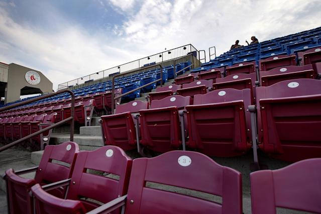 Minor League Baseball officially canceled its 2020 season on Tuesday. (Photo by Barry Chin/The Boston Globe via Getty Images)