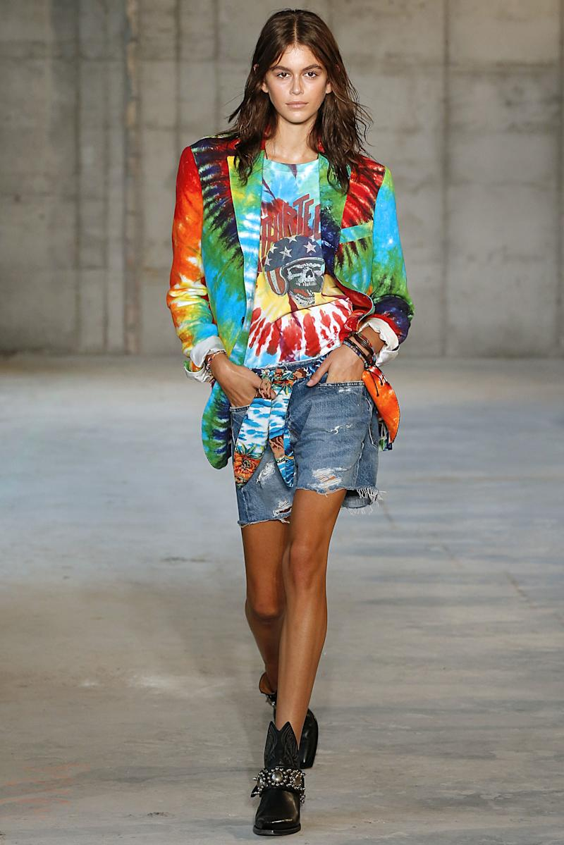Kaia Gerber walks the runway at the R13 Spring/Summer 2019 fashion show during New York Fashion Week on September 8, 2018 in New York City. Photo courtesy of Getty Images.