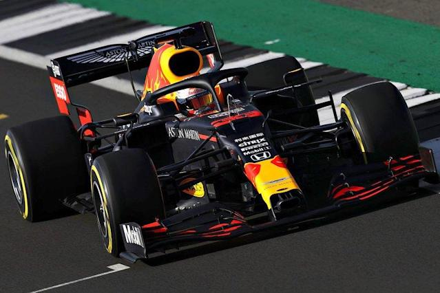 """Max Verstappen, Red Bull Racing RB16 nello shakedown di Silverstone <span class=""""copyright"""">Red Bull Content Pool</span>"""