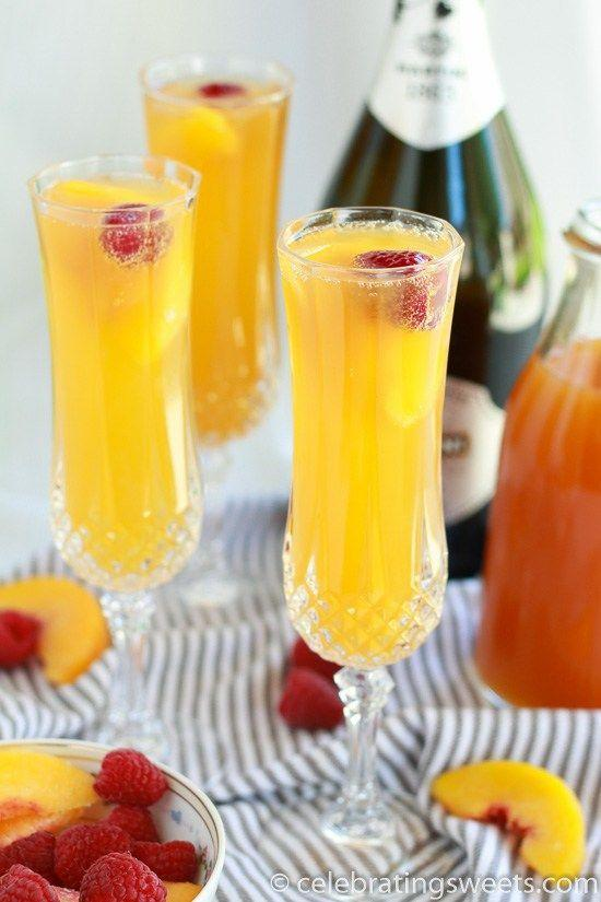 "<p>The raspberry liqueur is game-changing.</p><p>Get the recipe from <a href=""http://celebratingsweets.com/raspberry-peach-mimosas/"" rel=""nofollow noopener"" target=""_blank"" data-ylk=""slk:Celebrating Sweets"" class=""link rapid-noclick-resp"">Celebrating Sweets</a>.</p>"