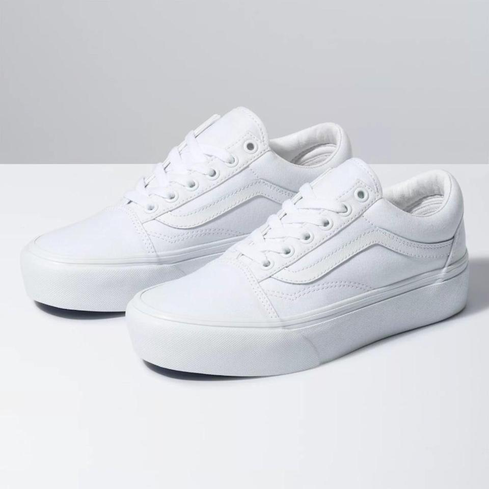 """<p>""""I wear these <span>Vans Old Skool Platforms</span> ($65) ALL THE TIME. Vans are a classic sneaker that can go with any outfit and the platform sole gives me an extra inch - which I will always take at 5'3""""!"""" - Jordan Shalhoub, social media producer, Fitness</p>"""