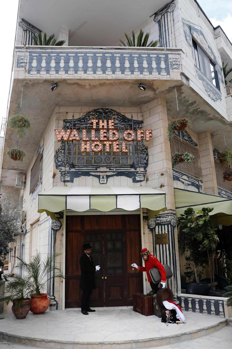 Banksy's The Walled Off Hotel in Bethlehem.(AFP/Getty Images)
