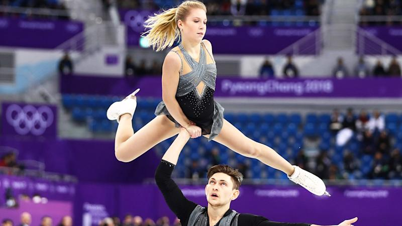 Ekaterina Alexandrovskaya and Harley Windsor, pictured here competing at the PyeongChang 2018 Winter Olympics.