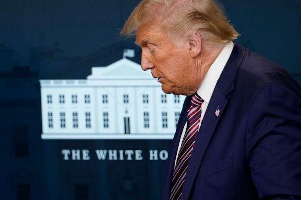 PHOTO: President Donald Trump attends a news conference in the James Brady Press Briefing Room at the White House, Wednesday, Aug. 12, 2020, in Washington. (Andrew Harnik/AP)