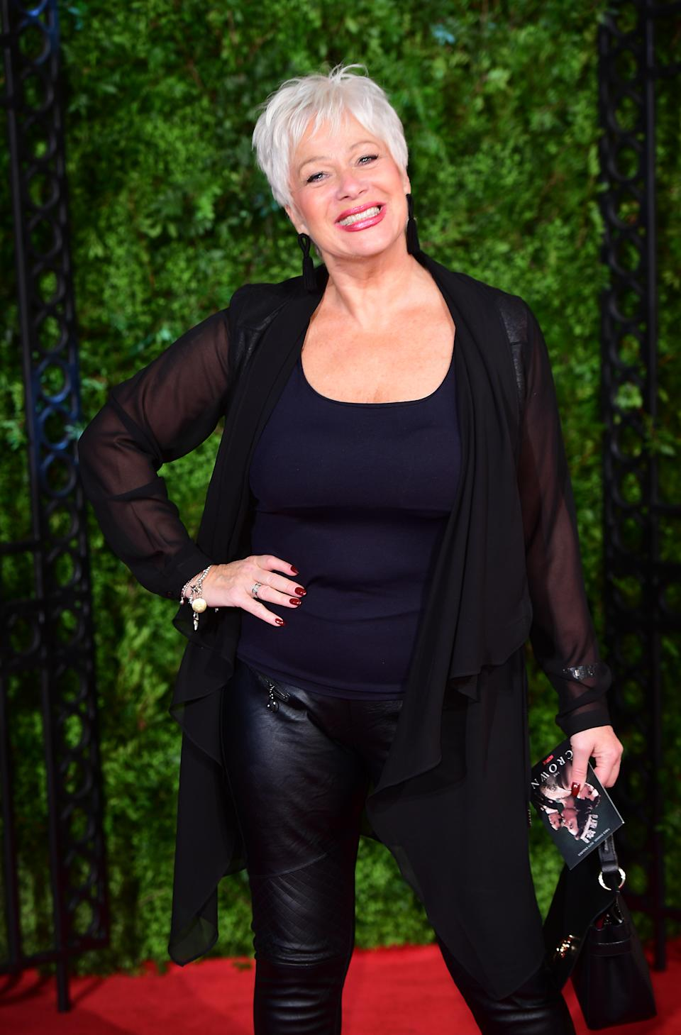 Denise Welch arriving for The Crown Season Three Premiere held at the Curzon Mayfair, London.