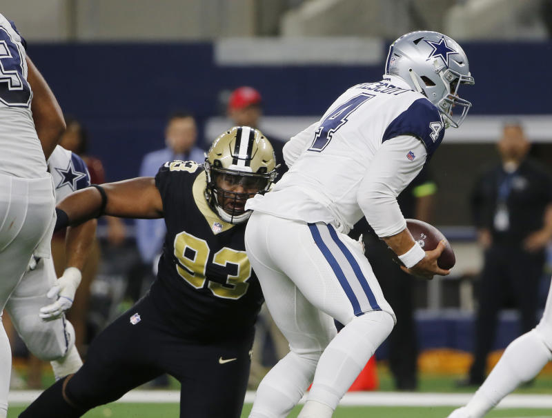 Saints' gashed defensive front happy to have Onyemata back