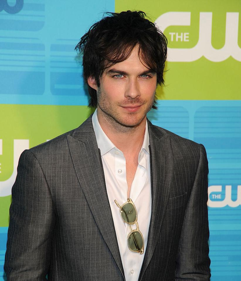 """<a href=""""/ian-somerhalder/contributor/48288"""">Ian Somerhalder</a> (""""<a href=""""/vampire-diaries/show/44270"""">Vampire Diaries</a>"""") attends the 2010 The CW Upfront at Madison Square Garden on May 20, 2010 in New York City."""