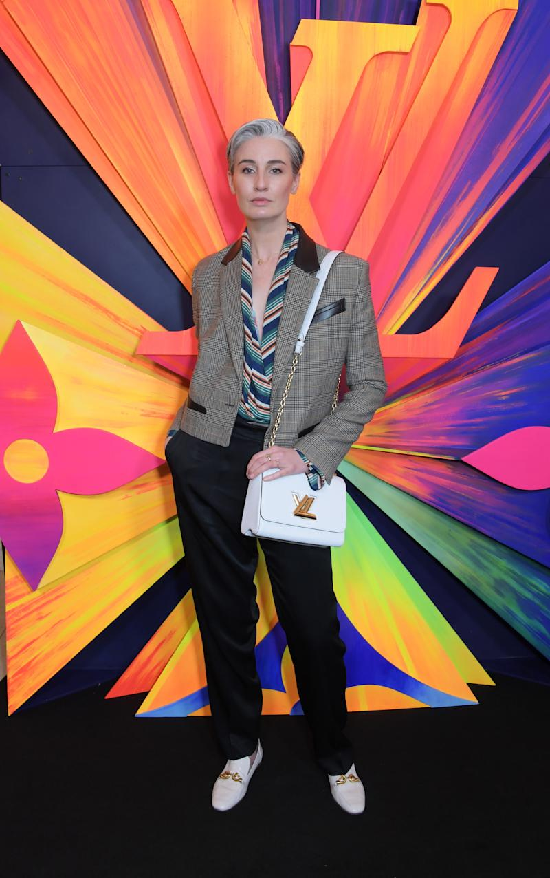 Erin O'Connor attends an after party celebrating the re-opening of the Louis Vuitton New Bond Street Maison at Annabel's on October 23, 2019 in London, England. Photo courtesy of Getty Images.