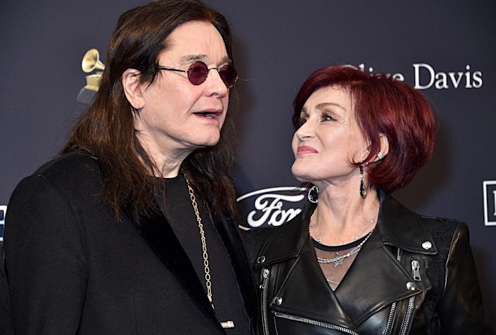 "BEVERLY HILLS, CALIFORNIA - JANUARY 25: (L-R) Ozzy Osbourne and Sharon Osbourne attend the Pre-GRAMMY Gala and GRAMMY Salute to Industry Icons Honoring Sean ""Diddy"" Combs on January 25, 2020 in Beverly Hills, California. (Photo by Gregg DeGuire/Getty Images for The Recording Academy)"