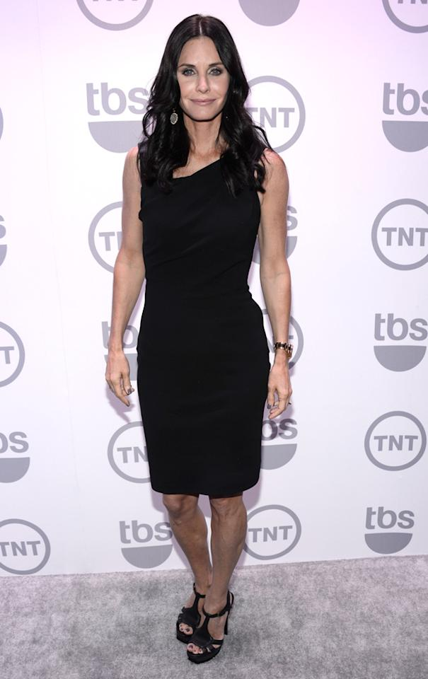 "Courteney Cox (""Cougar Town"") attends the TNT/TBS 2012 Upfront Presentation at Hammerstein Ballroom on May 16, 2012 in New York City."