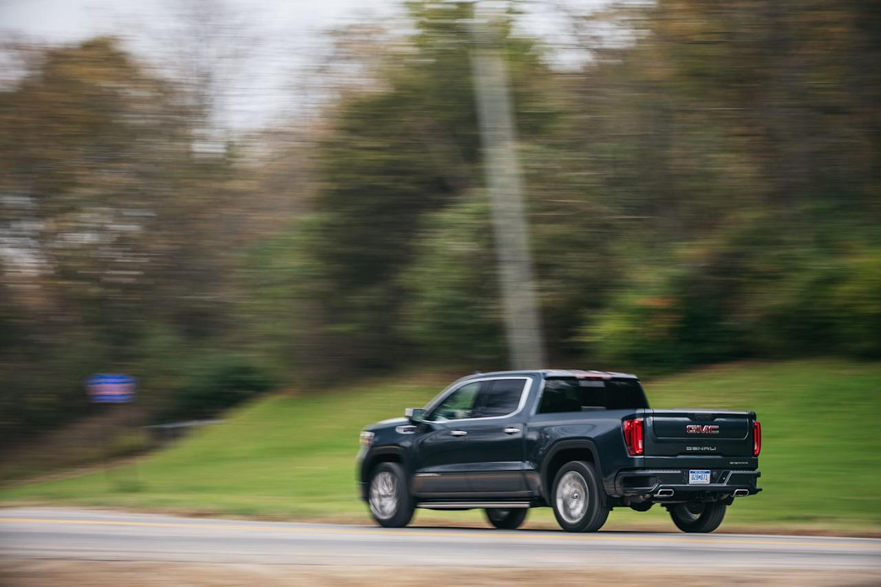 <p>The top engine option in the 2019 Sierra 1500 remains General Motors' biggest version of its venerable small-block V-8, a 6.2-liter mill that makes 420 horsepower and 460 lb-ft of torque.</p>