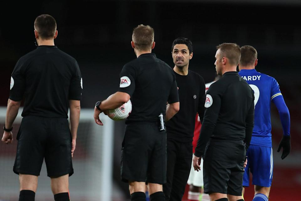 Arteta confronted the official over the decision after full-time (PA)