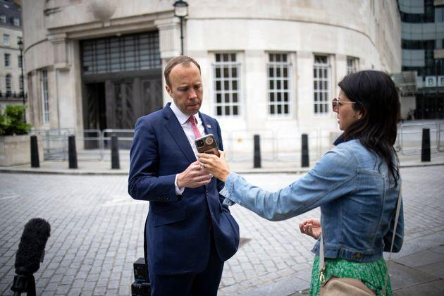 Matt Hancock pictured with his aide Gina Coladangelo earlier this month (Photo: TOLGA AKMEN via Getty Images)